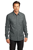 District Made - Mens Long Sleeve Washed Woven Shirt. DM3800